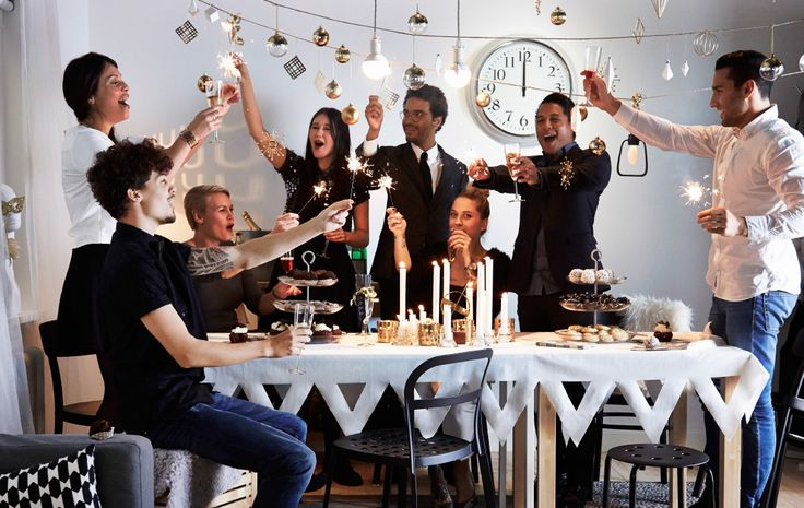 Ring in 2015 in style! Have a glamorous and affordable New Year's Eve dinner with IKEA.