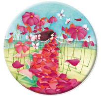 Pocket Mirror The Petal DressUnique and beautiful silky magnets and compact mirrors are all available at www.cascadeprintroom.com.au We will ship worldwide.
