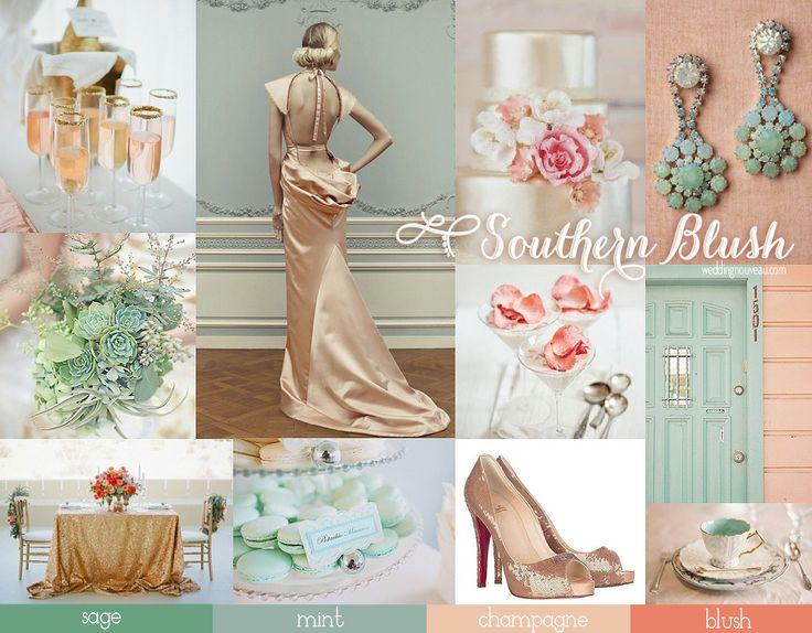 Mint Blush #wedding #Inspiration Board