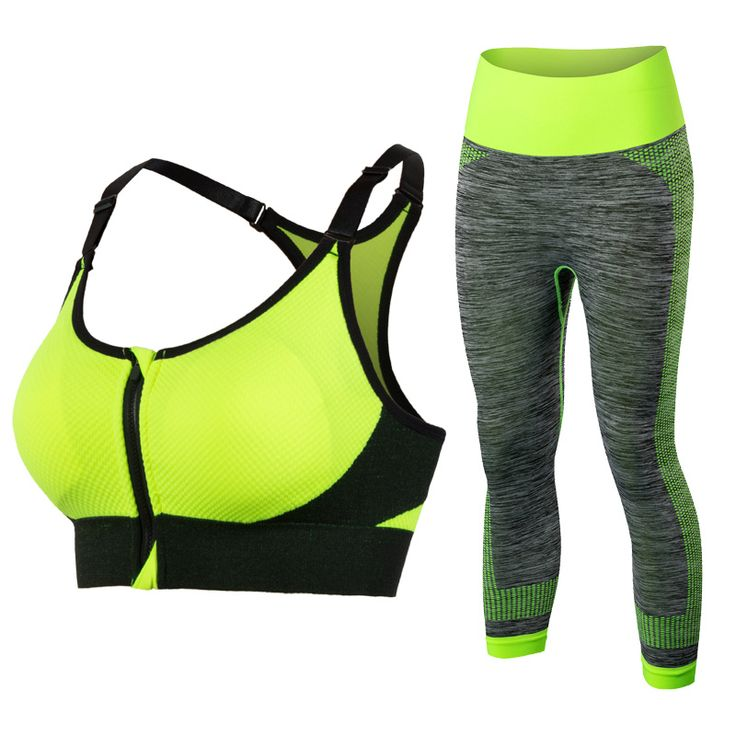 New Women Yoga Clothing Sport Bra Yoga Leggins Female Sport Tights Running Gym Sport Suit Fitness Clothes Yellow Yoga Sets