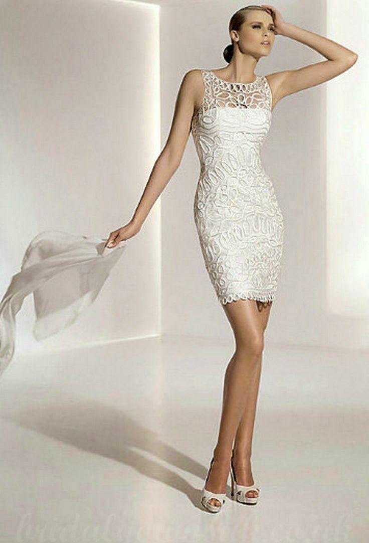 15 best Dress ideas images on Pinterest | Short wedding gowns ...
