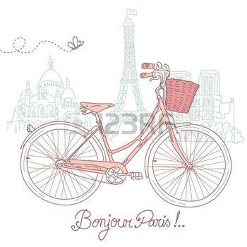 pary%C5%BC%3A+Jazda+na+rowerze+w+stylu%2C+poczt%C3%B3wki+romantycznego+Pary%C5%BCa