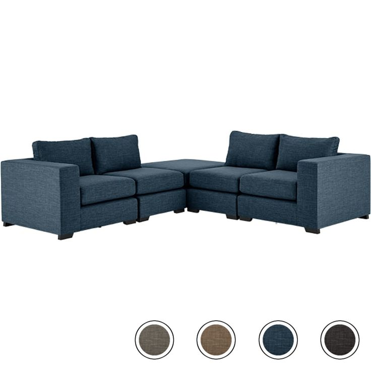 Mortimer Modular Corner Sofa Group, Harbour Blue from Made.com. Make the most of your space with this modular sofa. With individual units so you can..