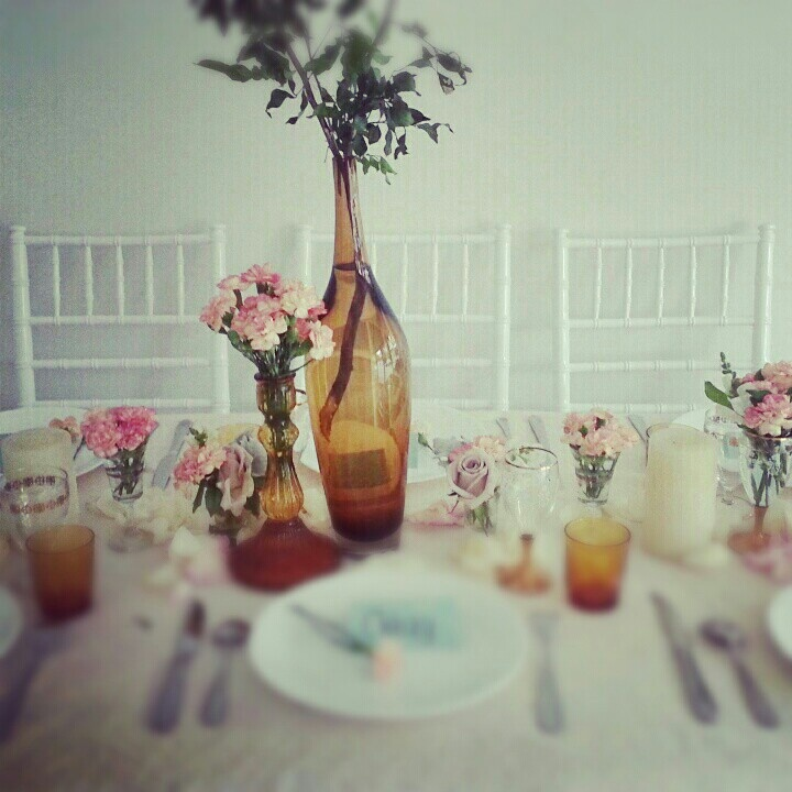 Table styling with tiffany chairs for ladies who lunch