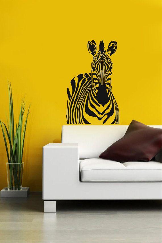 Zebra African Animal Housewares Wall Vinyl Decal Art Modern Design Murals Interior Decor Sticker Removable Room Window en58