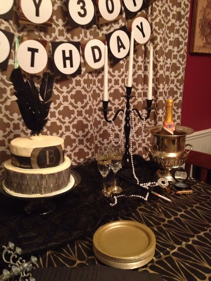 My Roaring 20s Party Table Set Up My Dirty Thirty Party