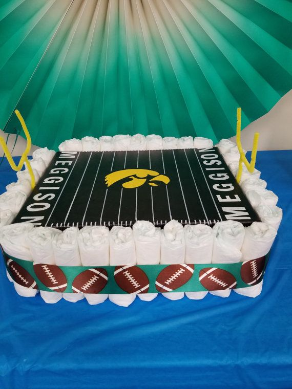Check out this item in my Etsy shop https://www.etsy.com/listing/454818638/football-field-diaper-cake