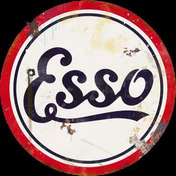 Esso Vintage Gas Sign. @ www.garageart.com