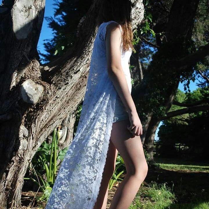 White lace kimono style