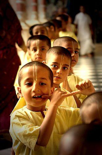 Young Krishna devotees