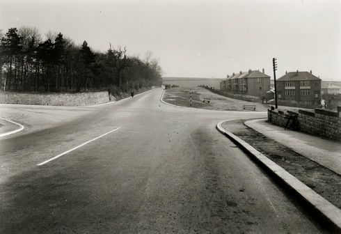 Iconic Whiston crossroads looking very different   in the past to how it does today!