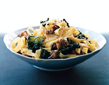 Fettuccine With Sausage and Kale | Recipe | Sausages, Kale and Kale ...