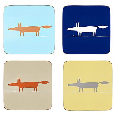 Buy Scion Mr Fox Coasters, Set of 4 Online at johnlewis.com