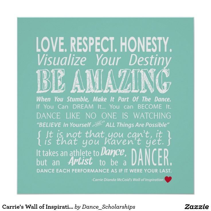 20 best living images on pinterest chevron arte da parede carries wall of inspirational dance quotes aqua poster stopboris Images