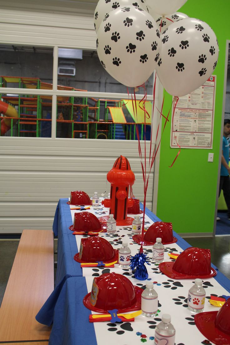 Paw Patrol birthday party ideas; Paw Patrol Marshall theme