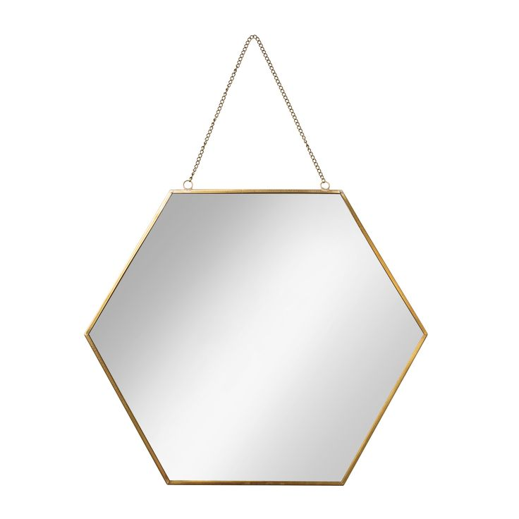Buy the Large Gold Hexagon Mirror at Oliver Bonas. Enjoy free UK standard delivery for orders over £50.