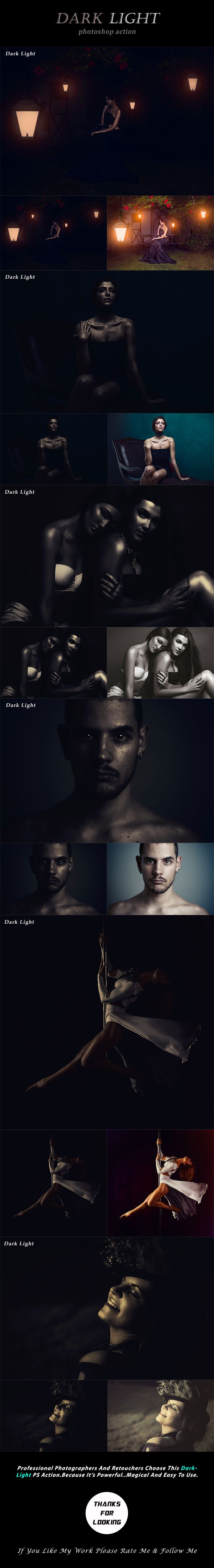 Dark Light Photoshop Action - Photo Effects Actions