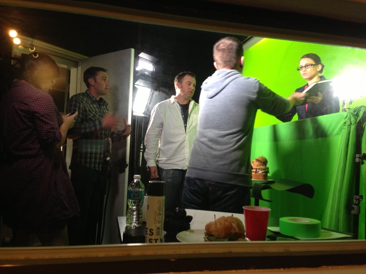 """MWB team working with Artifact Studios in LA on """"rich media"""" for @NewksEatery"""