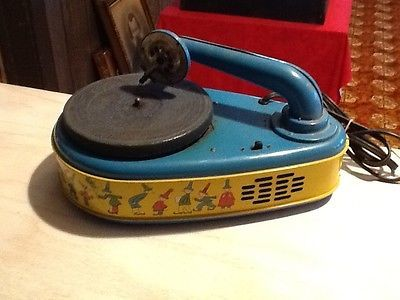 Vintage Industrial Kids Toy Working Electric Phonograph Lindstrom Corporation~~