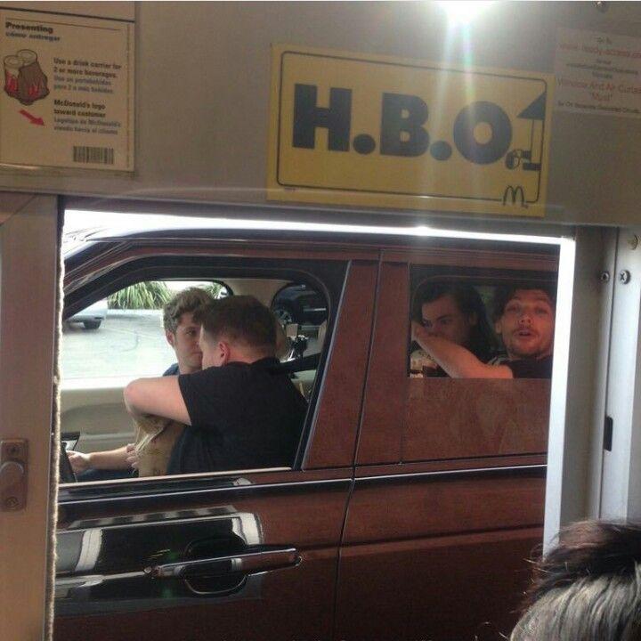 One Direction - Carpool Karaoke with James Corden at McDonald's
