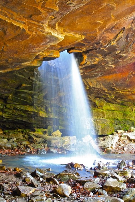 Glory Hole Falls near Fallsville, AR after a Spring rain in 2011.