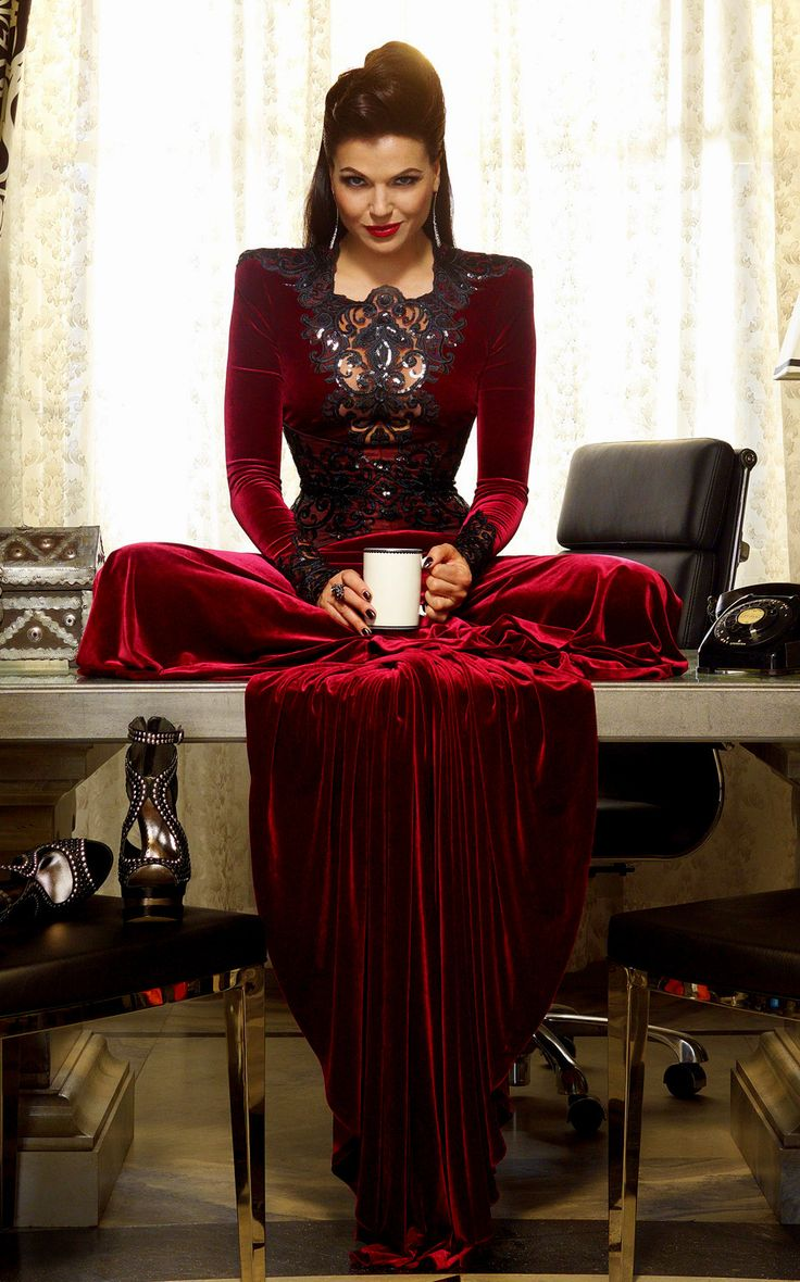 Regina in Red. | OUT | Pinterest | Red velvet, Gowns and ...
