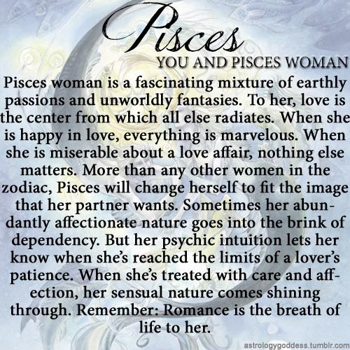 Astrology Goddess ~ this is so true. I am such a Pisces.
