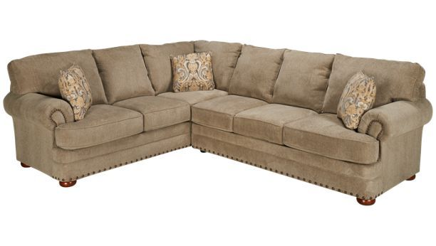 Klaussner Home Furnishings-Cliff-Cliff 2 Piece Sectional - Jordan's Furniture