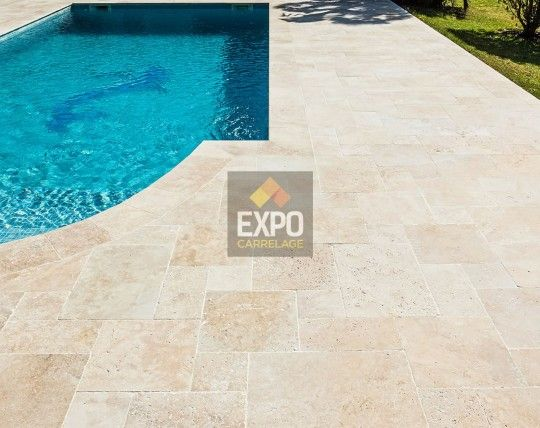 travertin classic naturel expo carrelage - Site Travertin Ba