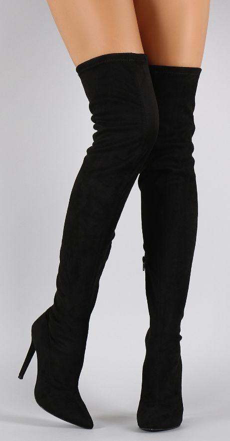 """BRENDA"" thigh high boot; I'd love to be able to wear these!"