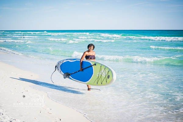 Top Tips to Visit Santa Rosa Beach Florida The sand is beautify white and squeaks when you walk; the water is a gorgeous shade of turquoise blue and the sun sets are to die for.