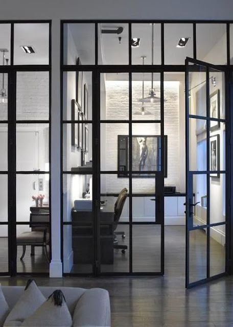 Interior glass doors. South Shore Decorating Blog