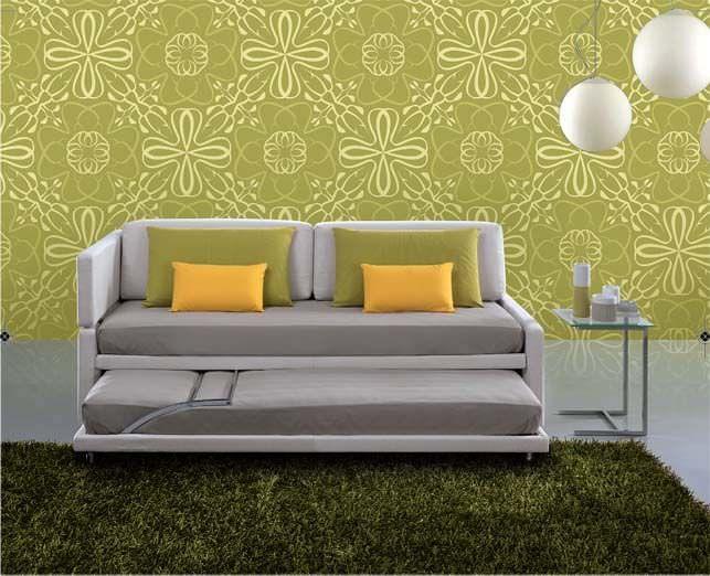 Canapé contemporain / en tissu / 2 places / avec lit gigogne RI_LETTO Respace