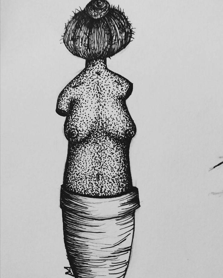Sobre moldar tudo, moldamos nossos corpos por causa dos outros, moldamos o outro ao nosso favor, moldamos nossas plantas ao vasos, moldamos as arvores aos canteiros. Moldes moldes moldes #desenho #arte #pontilhismo #aracaju #ilustração #cabecadefrade #draw #art #illustration #dotwork #handmade #feitoamao #nanquim