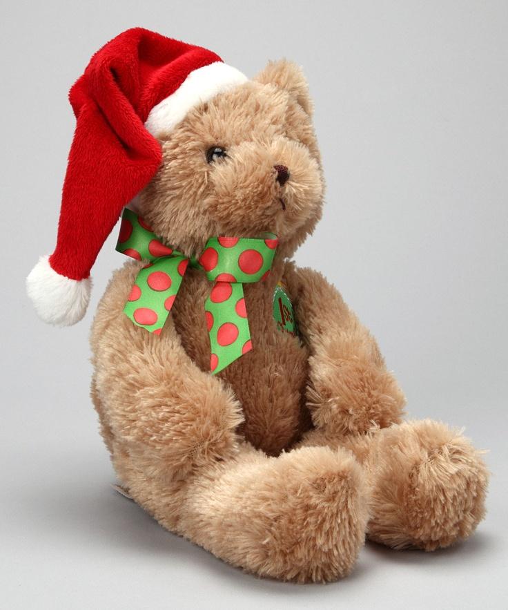 Bearington Collection First Christmas Plush Santa Bear
