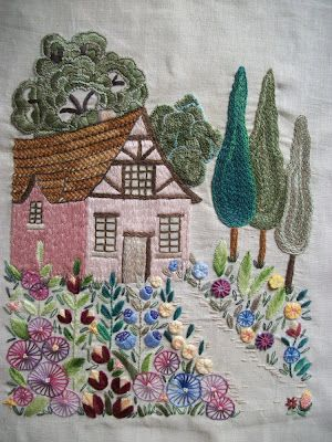 Hayfield Cottage: Another Cottage Embroidery and Swan Lake Sampler