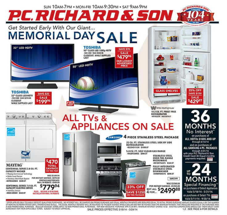memorial day sale pc richards
