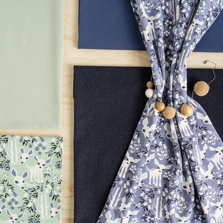 Jersey, Blue - Grey | Nosh.fi ENGLISH  | Get inspired by new NOSH fabrics for Summer 2017! Discover new colors and prints in quality organic cotton. Shop new fabrics at en.nosh.fi