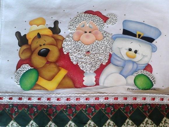 Pano de prato Natal                                                                                                                                                                                 Mais
