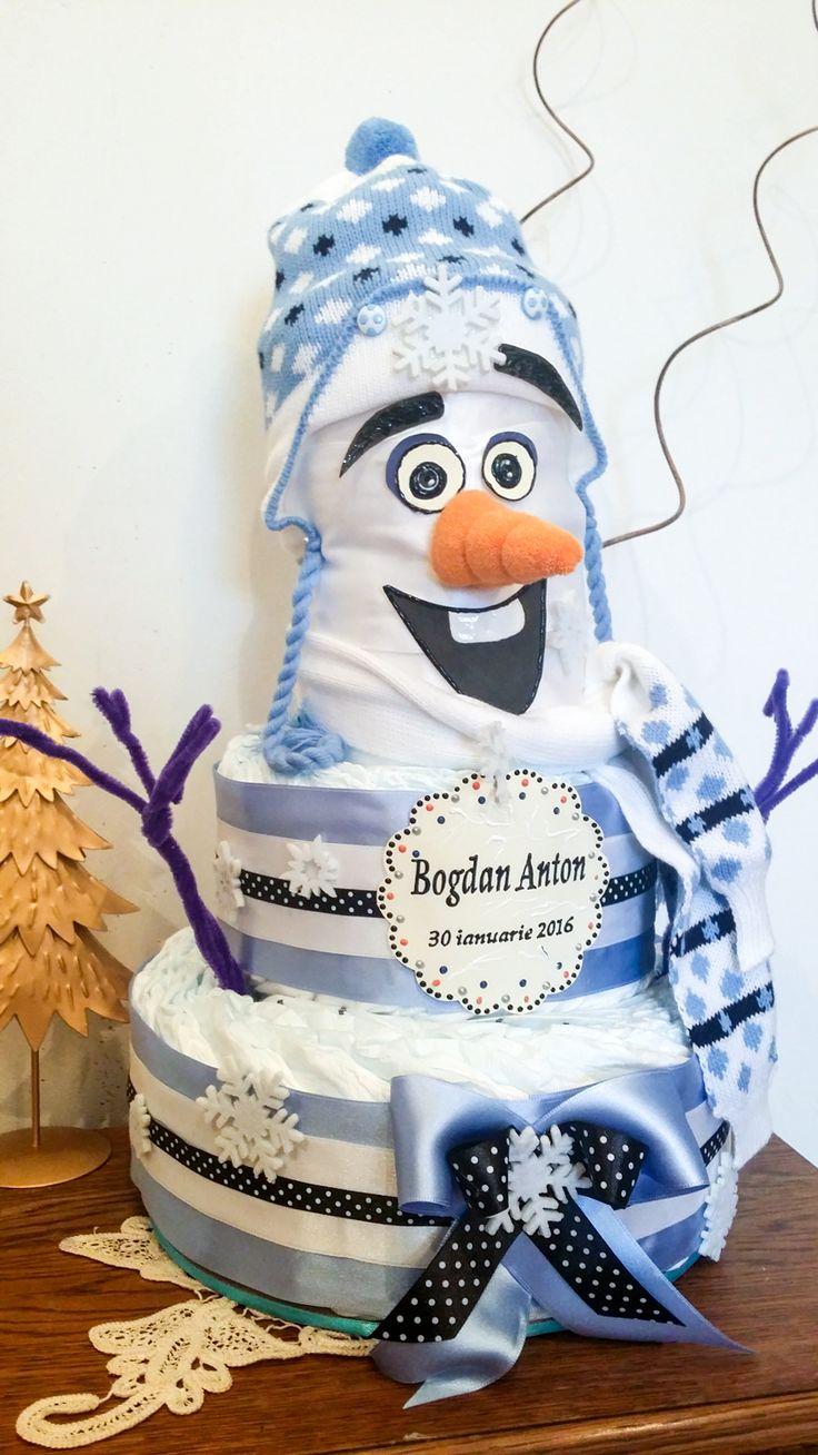 Olaf Diaper cake