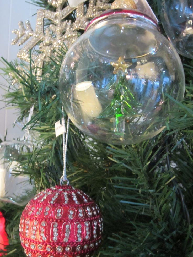 Glass Tree Balls and beaded red balls