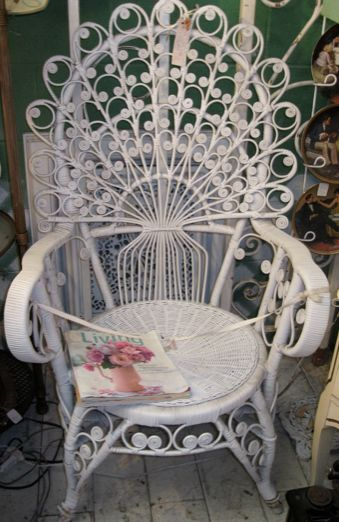 old peacock wicker chair inspiration for quilling