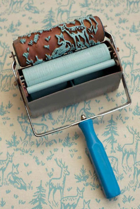 Special Deer Pattern Paint Roller W Wall Painting By Bigtoy Patterned Paint Rollers Classic Wallpaper Classic Wallpaper Pattern