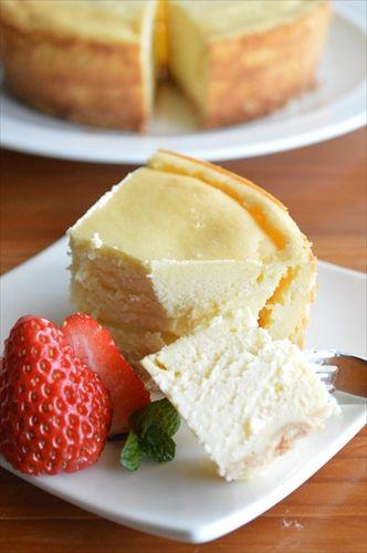 生クリームが入ってなくても、濃厚なヘルシーチーズケーキが完成します♡