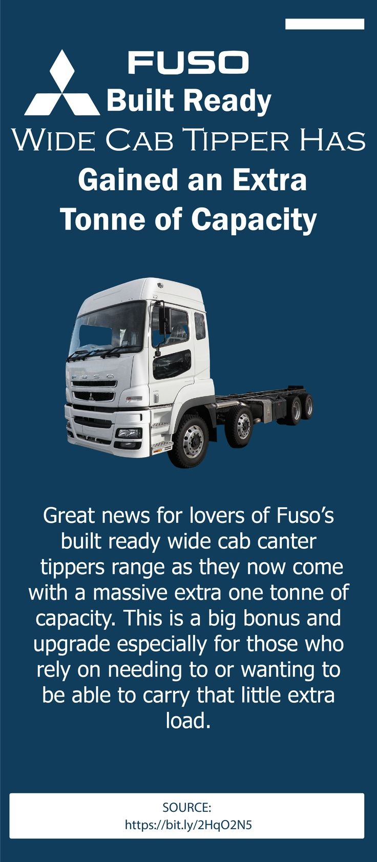 The FUSO's designed ready wide cab tripper has achieved an
