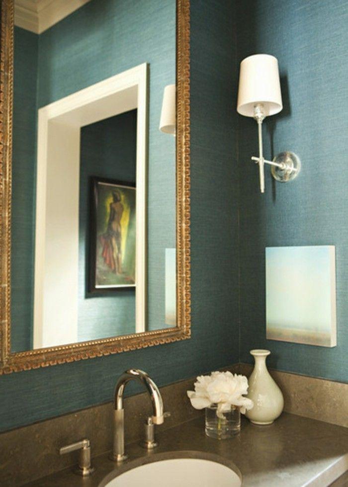 Die Wunderschone Und Effektvolle Wandfarbe Petrol Kid Bathroom Decor Diy Bathroom Decor Rustic Bathroom Decor