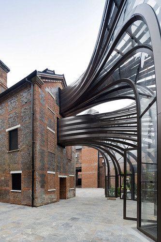 Thomas Heatherwick; Bombay Sapphire Distillery (Adaptation of an 18th Century paper mill); Laverstoke, England, 2014.