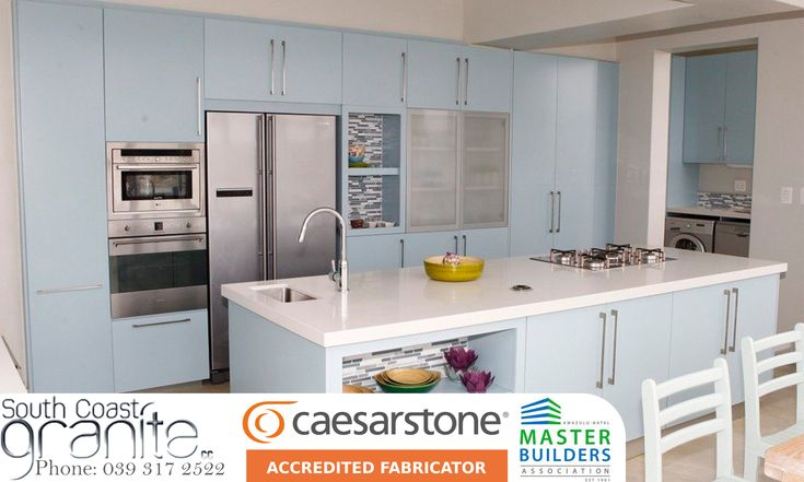 Caesarstone's surfaces are ideal for virtually any interior surface from kitchen counter tops, bathroom vanities and stairs, to wall paneling and interior furniture.  South Coast Granite is accredited with Caesarstone and are associated with the Master Builders association.  We stock a wide range of Caesarstone products which are available in South Africa.   Feel free to contact us for any more information, or browse our website to view our gallery of previous work.  Website…