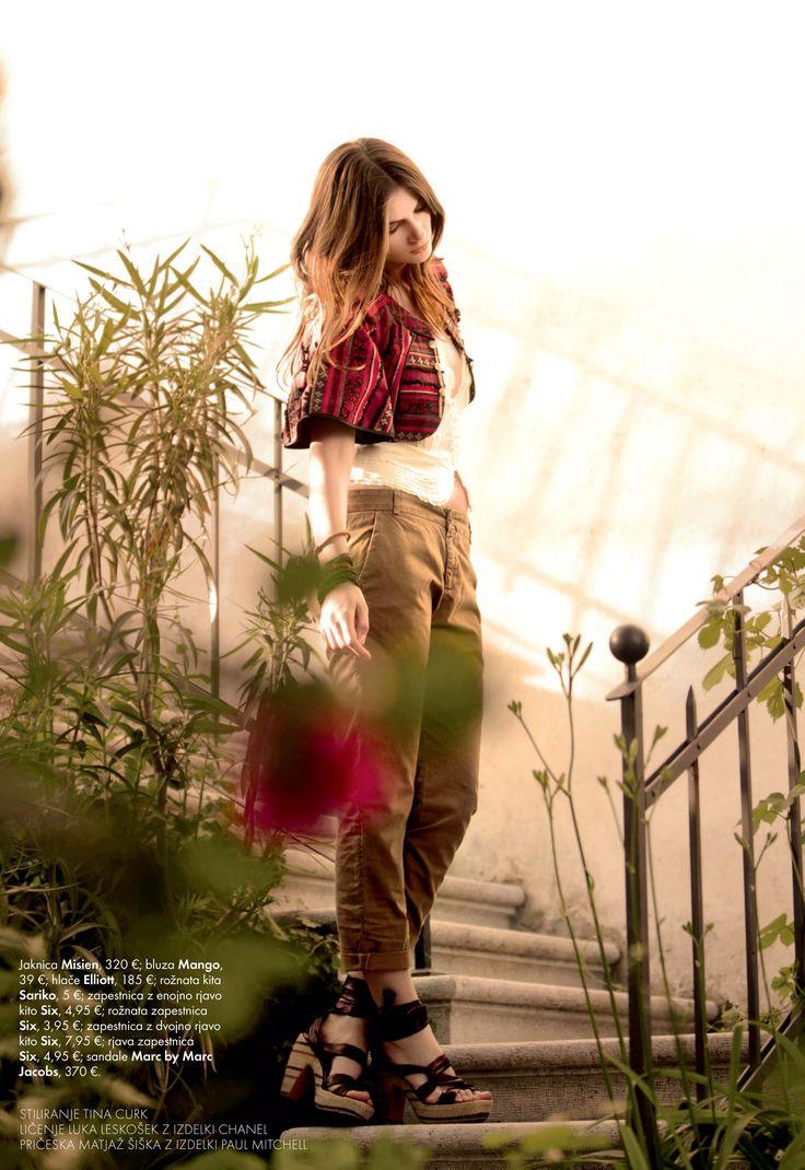 My womans jacket featured in Slovenian Elle Magazine #advisemystyle