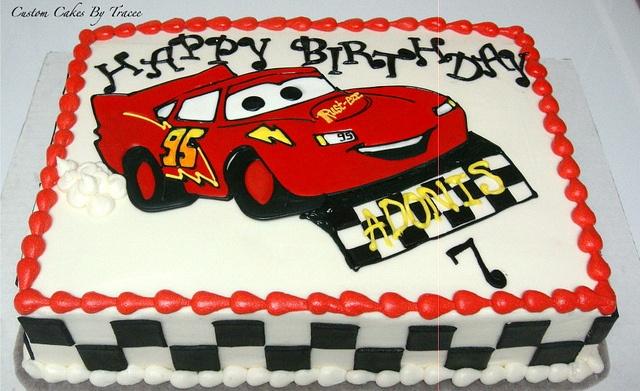 Disney Cars theme cake by Custom Cakes By Tracee, via Flickr